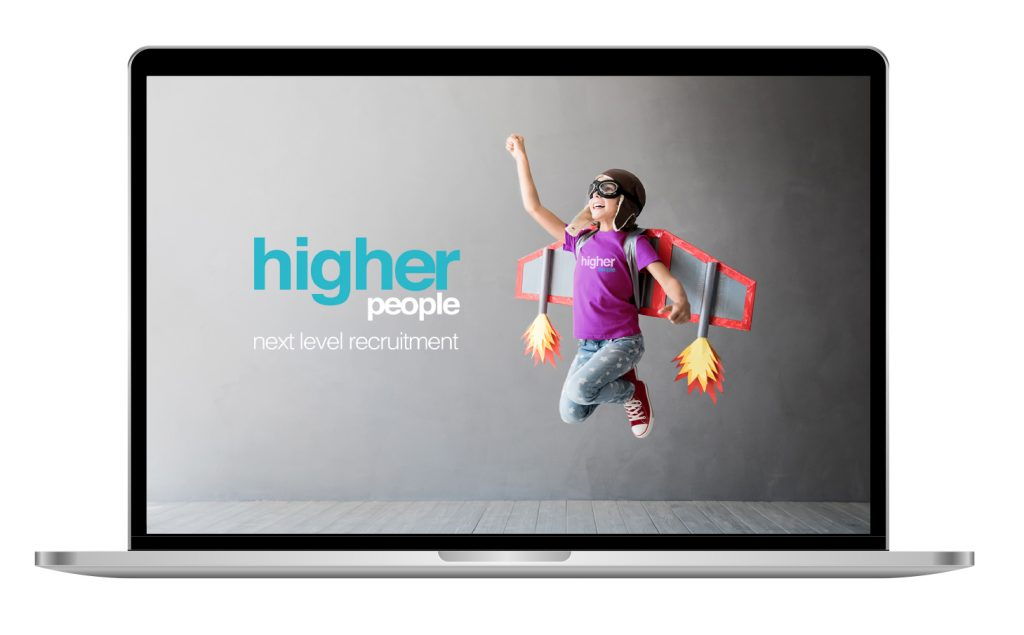 Mac laptop with higher people website screen